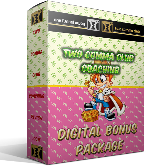 two comma club coaching digital bonus package russell brunson