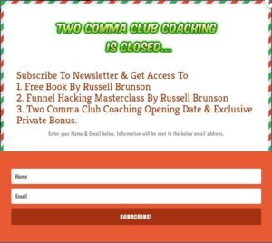 two comma club coaching is closed newsletter